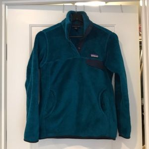 Patagonia Teal Re-tool pullover, sz small